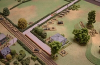The French centre and right flank