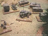 The British deployed for action on the right flank