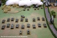 The Soviet 62nd Guards Tank Regiment arrives